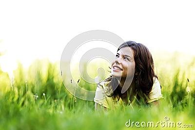 Teenager in field