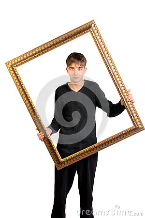 Teenager with frame