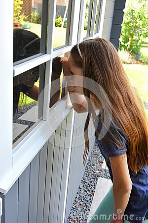 Free Teenager Girl At Summer House Stock Image - 77170791