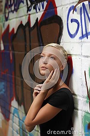 Teenager girl outdoors