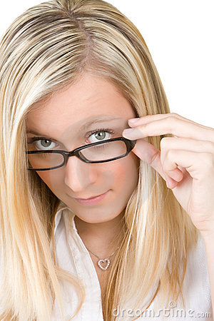 Teenager in glasses