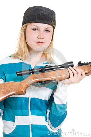 A teenager with a gun