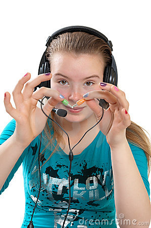 Teenager with headphones