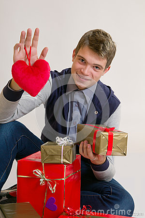 Teenager with heart and gifts