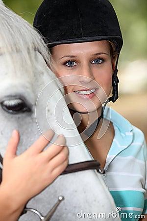 Teenager horse rider