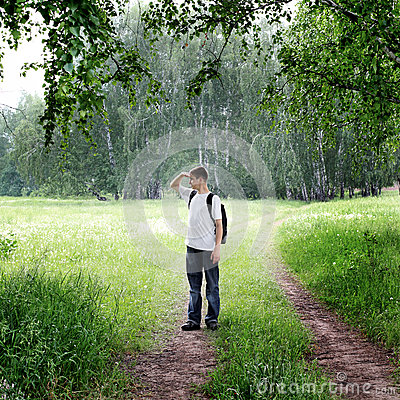 Free Teenager In The Forest Royalty Free Stock Photography - 42676477