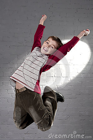 Teenager jumping