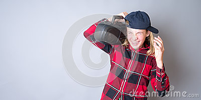Teenager Listening to Loud Music