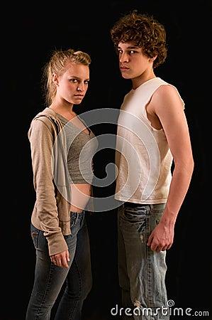 Teenager mit Fluglage