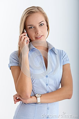 Teenager on mobile phone call