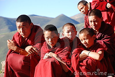 Teenager monks Editorial Stock Image