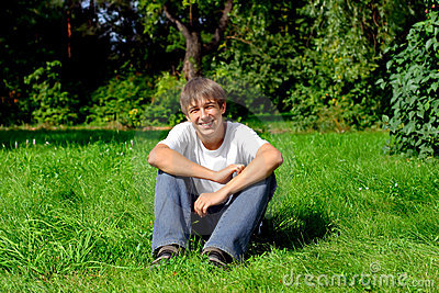 Teenager in park