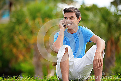 Teenager on the phone