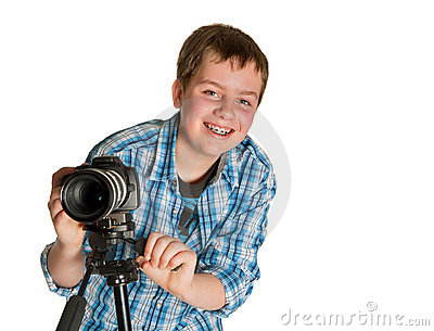 Teenager photographer