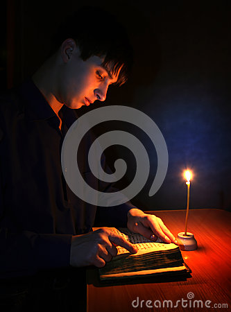 Teenager with Religious Book