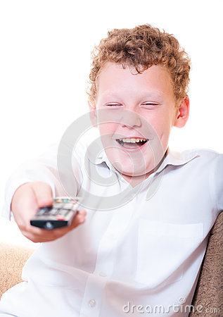 A teenager with a remote control