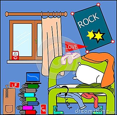 Teenager room Mess