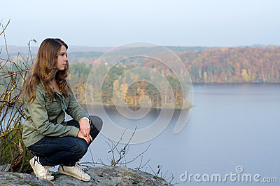 Teenager s autumn travel