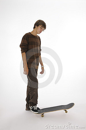 Teenager on a skateboard
