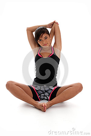 Teenager Stretching