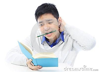 Teenager Studying