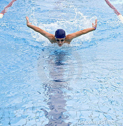 Free Teenager Swimmer Stock Image - 5800121