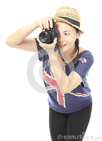 Teenager Taking a Photo