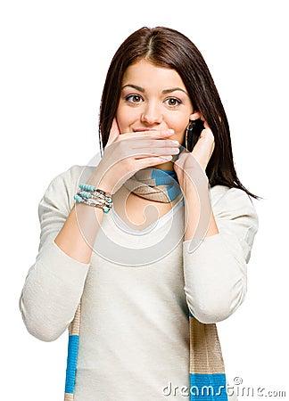 Teenager talking on phone