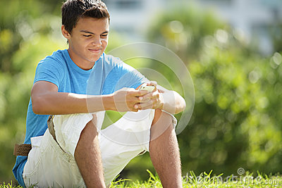 Teenager texting on the phone