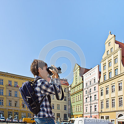 Tourist in  Wroclaw