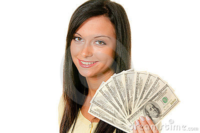 Teenager with wad of dollars