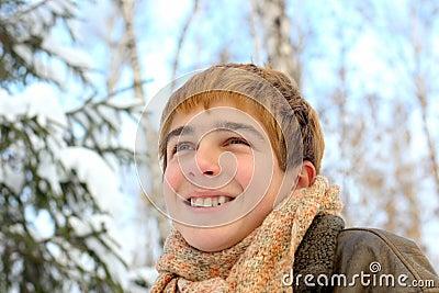 Teenager in winter