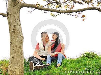 Teenagers outdoor, beautiful scene
