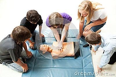 Teenagers Practice CPR