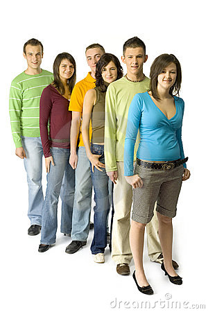 Free Teenagers  Queue Royalty Free Stock Image - 2385806