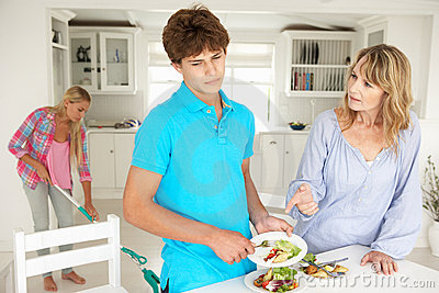 Teenagers reluctant to do housework