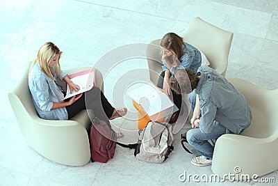 Teenagers revising