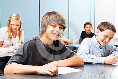 Teenagers in School