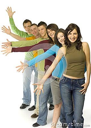 Teenagers in step