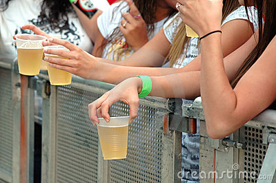 Teens with beer