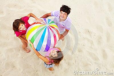 Teens with big ball