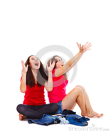 Teens catching something