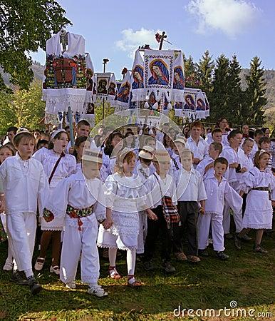 Teens celebrating saint mary Editorial Photography
