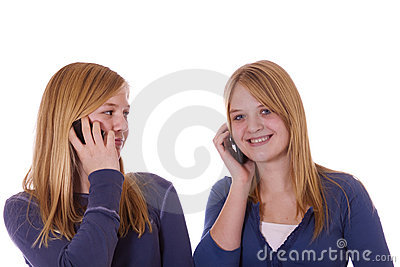 Teens on cell phones