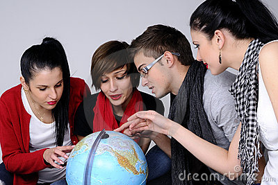 Teens choosing destinations