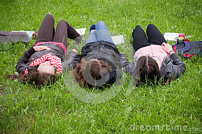 Teens daydreaming