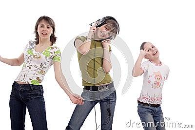Teens on a disco