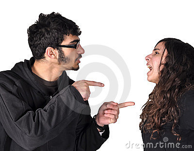 Teens fighting