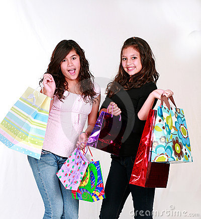 Teens with gift bags