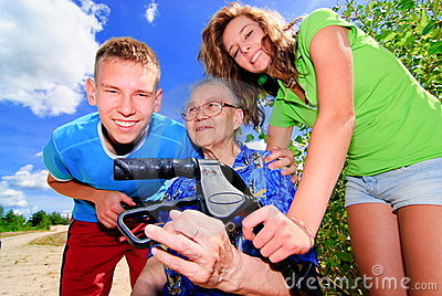 Teens and grandma